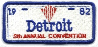 1982 AKA Convention logo - Detroit MI