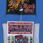 Raffle - Rock & Roll Kite display